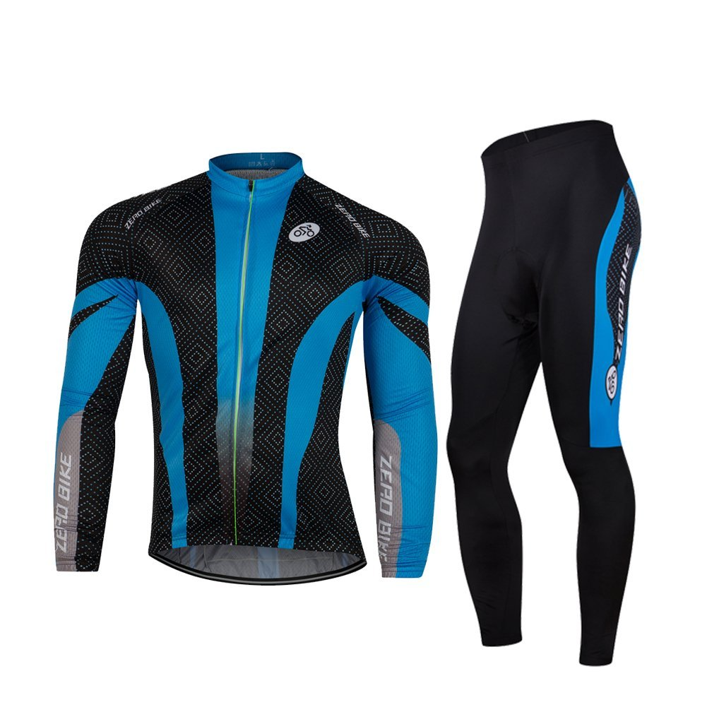 Primary image for ZEROBIKE Men's Fleece Thermal Long Sleeve Cycling Jersey Cycling Clothing Set...
