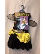 NEW GIRLS SIZE MEDIUM YELLOW & BLACK BUMBLE BEE WINGS HALLOWEEN COSTUME ... - $9.74