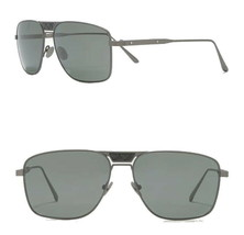 Bottega Veneta Quilted Panel Aviator Sunglasses $730 Ruthenium Gray 60-1... - $260.00