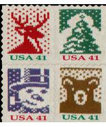 2007 41c Holiday Knits, Block of 4 Scott 4215-4218 Mint F/VF NH - $8.24