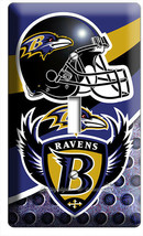 BALTIMORE RAVENS FOOTBALL TEAM 1 GANG LIGHT SWITCH WALL PLATE MANCAVE RO... - $8.99