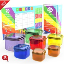 Diet Control Container Kit 7 Pcs. Meal Planner Microwave Dishwasher and ... - €10,20 EUR