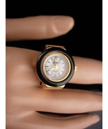 Vintage watch ring / metal gold plate stretch band / works great - Digit... - $65.00