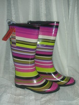 Missoni for target girls magenta strips rainboots  4  thumb200