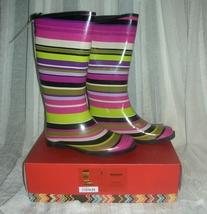 Missoni for target girls magenta strips rainboots  1  thumb200