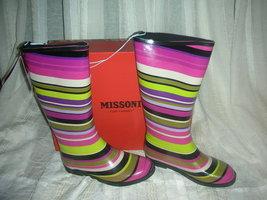 Missoni for target girls magenta strips rainboots  6  thumb200