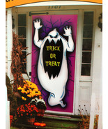 Spooky Ghost-TRICK or TREAT-DOOR COVER MURAL Ha... - $3.93