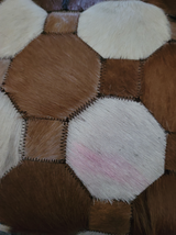 Western Hair On Cowhide Ladies Purse NEW Suede Back Whipstitch Pink Smudge image 2