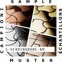 SAMPLE Mosaic S-Herringbone-BM | Collection Herringbone Brass mill - $50.00