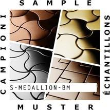 SAMPLE Mosaic S-Medallion-BM | Collection Medallion Brass mill - $50.00