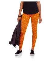 Womens Halloween Ankle Leggings Candy Corn Oran... - $12.99