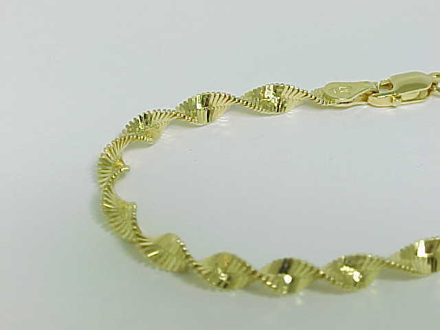 DANECRAFT 8 inch Gold Vermeil STERLING ROPE TWIST BRACELET - Made in Italy - NWT