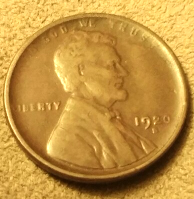 1920 S Lincoln Wheat Cent - VF with nice detail - Scarce San Fran Issue!