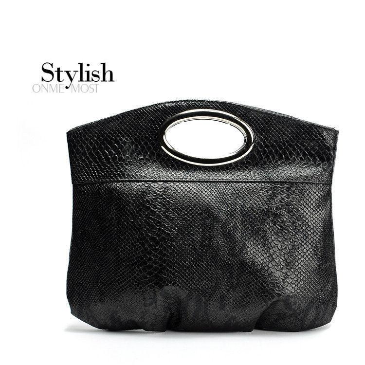 High quality Designer synthetic Leather Serpentine Handbag