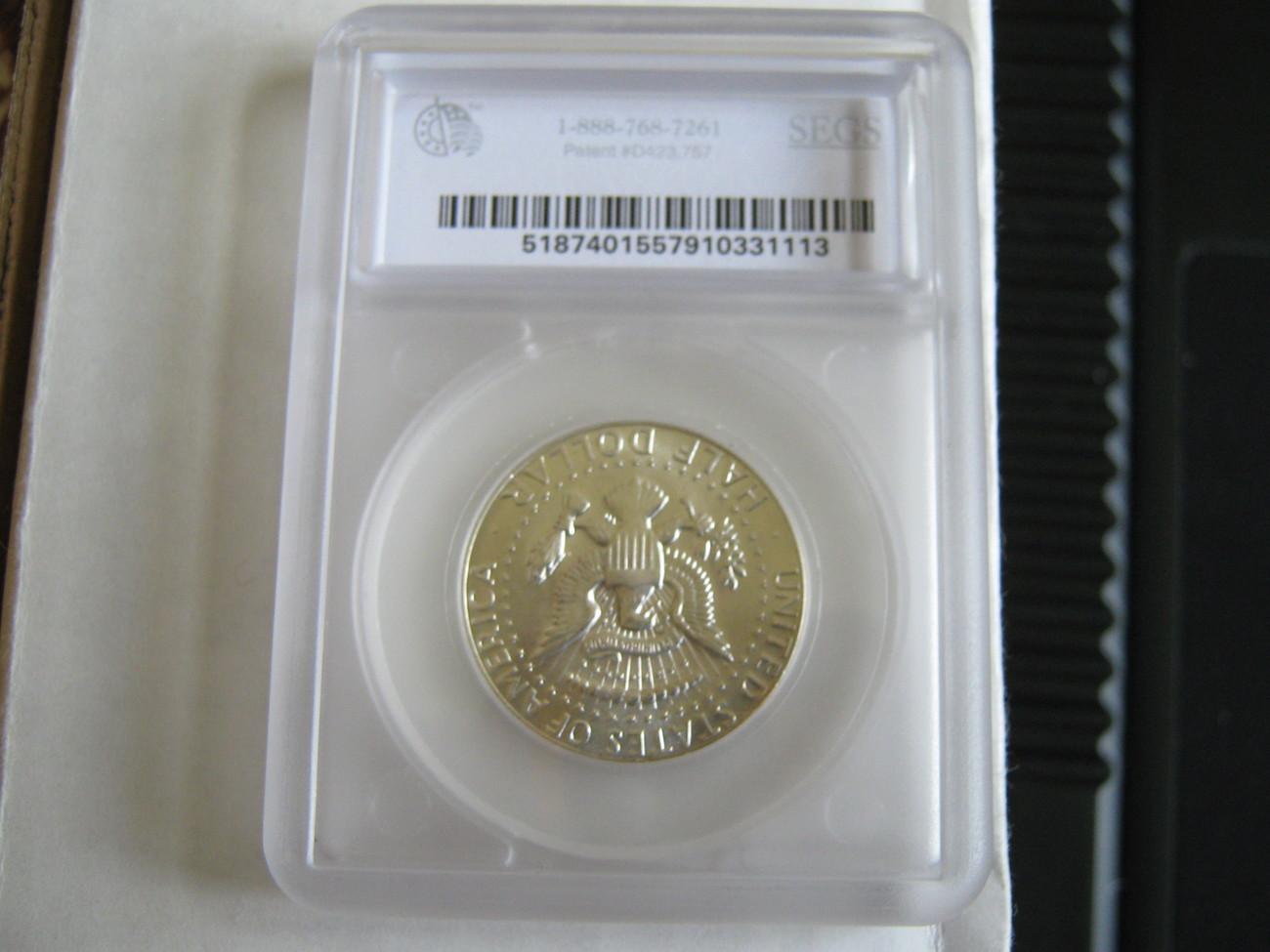 Kennedy Half Dollar , 1969-D , MS-64 , SEGS Certified