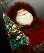 Kurt S Adler Christmas Ornament 1983 Santa Claus in Fur Trimmed Santa Co... - $8.99