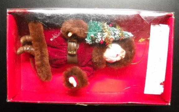 Kurt S Adler Christmas Ornament 1983 Santa Claus in Fur Trimmed Santa Coat Boxed
