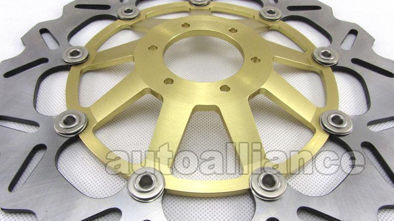 Gold Front Brake Disc Rotor for VTR1000F 97-06 CBR900RR 94-97 CBR600F3 VFR750F