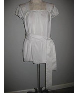 Vera Wang White Pleated Blouse With Tie Size 14... - $23.00