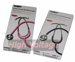 Labtron 400 Dual Head Stethoscope Choose from Blue or Pink (TNR054MS or TNQ7MS) - $4.75