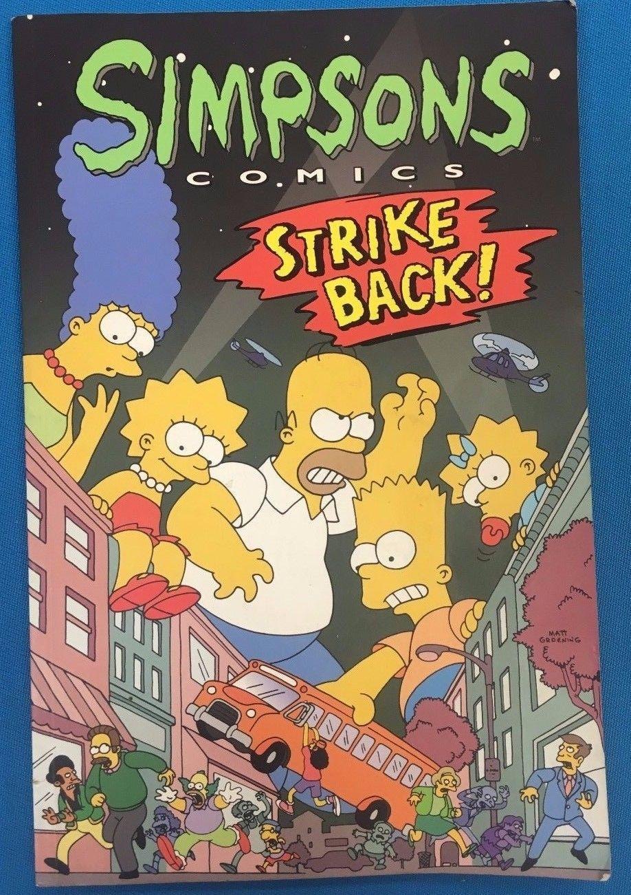 SIMPSONS COMICS STRIKE BACK! (1996) Bongo Comics TPB 1st FINE-