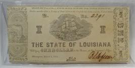 1864 $1 Louisiana Shreveport Sailing Ship Civil War Bank Note PC-327 - $43.47
