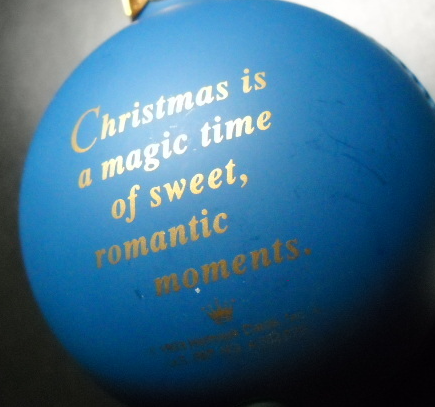 Hallmark Cards Christmas Ornament 1993 Our First Christmas Together Magic Light