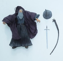 2003 ToyBiz Lord Of The Ring FOTR Gandalf The Grey Action Figure Staff L... - $10.99