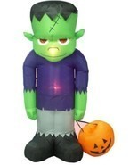 BZB Goods 8 Foot Tall Huge Illuminated Halloween Inflatable Frankenstein's - $2.648,84 MXN