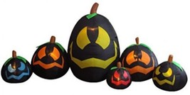 BZB Goods 12 Foot Long Illuminated Halloween Inflatable Black Pumpkins ... - $124.03