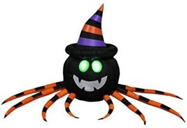 8 Foot Long Halloween Inflatable Spider With Hat Decoration - £78.43 GBP