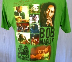 Bob Marley Green XL T-Shirt Multiple Images by Zion Rootswear Cotton - $20.00