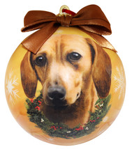 DACHSHUND (RED) CHRISTMAS BALL ORNAMENT DOG HOLIDAY XMAS PET LOVERS GIFT - $10.95