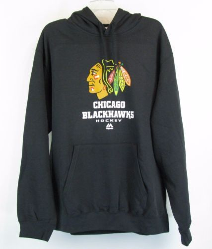 CHICAGO BLACKHAWKS Size XXL New Black Hoodie Sweatshirt NWT