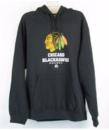 CHICAGO BLACKHAWKS Size XXL New Black Hoodie Sweatshirt NWT - $41.99