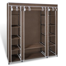 Brown Portable Closet Fabric Cabinet Storage Or... - $39.90