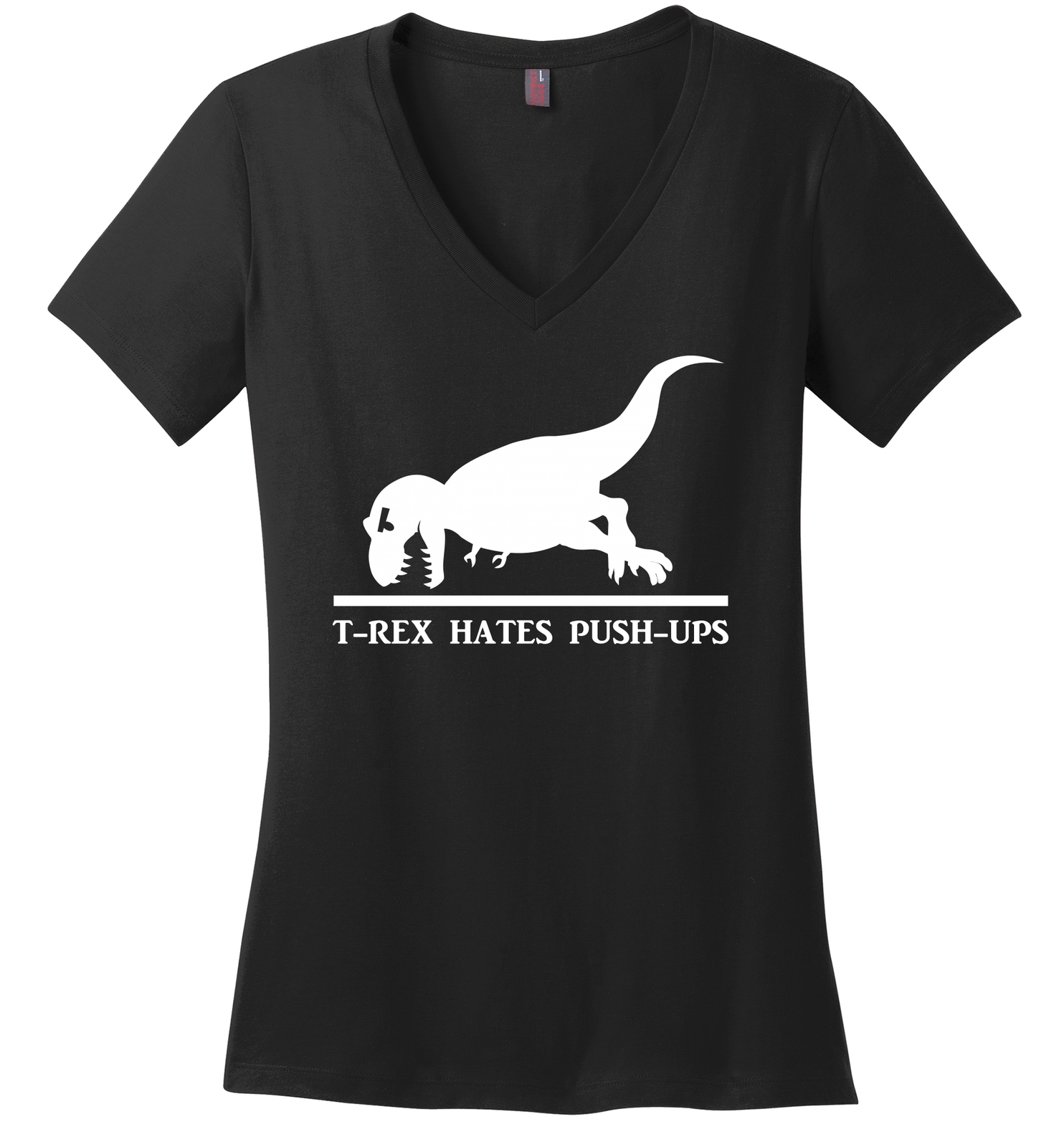 T Rex Hates Pushups Funny Dinosaur Workout Shirt Ladies V-neck Tee, used for sale  USA