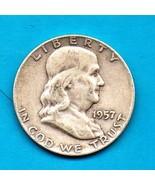 1957 D Ben Franklin Half Dollar  SILVER - High End Grade - $18.00