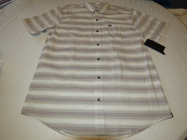 Mens Hurley short sleeve surf skate brand shirt button up L Void MVS0002... - $28.70