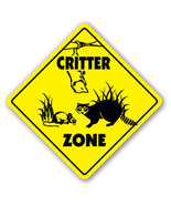 CRITTER CROSSING Sign xing gift novelty animals... - $7.90