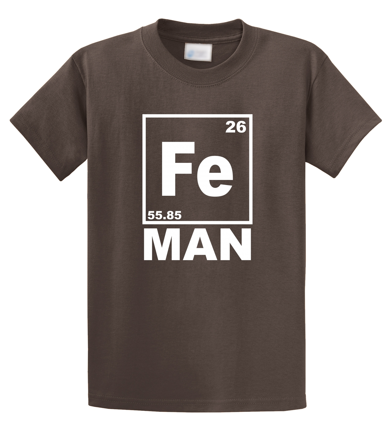 Fe Man Funny T Shirt Iron Man Chemistry Periodic Table Elements for sale  USA