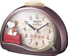 SNOOPY & WOODSTOCK Alarm Clock Rhythmtokei FROM JAPAN - $37.99