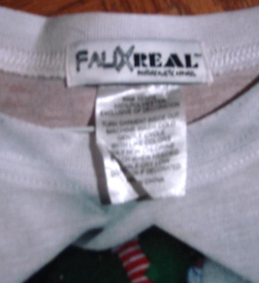 Ugly Christmas Long Sleeve cardigan look tee-Fauxreal XL