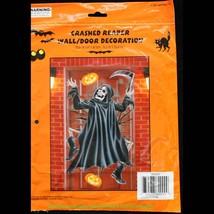 Funny Halloween CRASHED GRIM REAPER DOOR COVER ... - $3.93