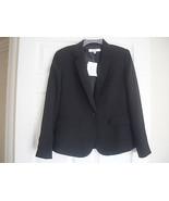 Nine West New Womens Black Pinstripe Long Sleeves One-Button Blazer Jack... - $22.99