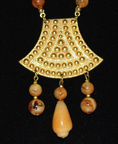 Authentic Miriam Haskell Vintage Etruscan Revival Necklace Very Rare Excellent C