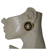 Authentic Hermes Vintage Tigre Royale Royal Tiger Enamel Clip Earrings - $428.00