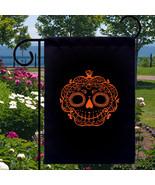 Sugar Skull Pumpkin New Small Garden Yard Flag ... - $12.99