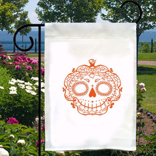 Sugar Skull Pumpkin New Small Garden Yard Flag Halloween Day of the Dead