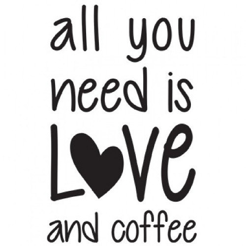 Love and Coffee New Large Canvas Tote Bag Gifts Events Shop Travel Business